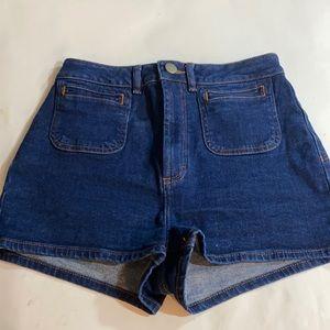 ASOS high waisted denim shorts UK10/28